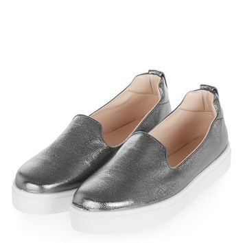 TEMP Metallic Slip On Trainers - Trainers - Shoes