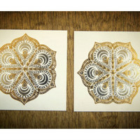 Metallic Mandala Tattoo Set