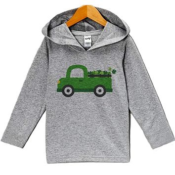 Custom Party Shop Baby's Green Clover Truck St Patrick's Day Hoodie