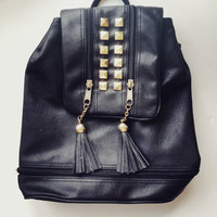 Studded Black Backpack