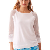 Lilly Pulitzer Parker Mesh Sleeve Pullover