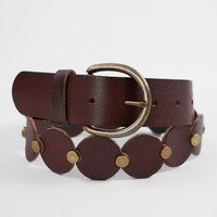 Indie Spirit Designs Linked Circle Leather Belt - Women's Accessories in Brown | Buckle