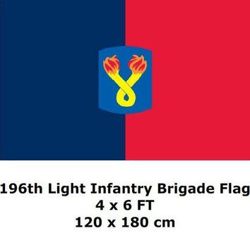196th Light Infantry Brigade Flag 4` x 6` FT Polyester Large USA US United States American Army Vietnam War Flags and Banners