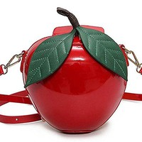 Red or Green Apple Crossbody Handbag