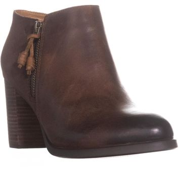 Sperry Top-Sider Dasher Block Heel Ankle Booties, Lille Brown, 8 US / 39 EU