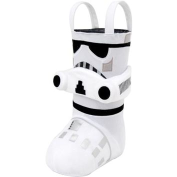 "Star Wars Stormtrooper 13"" Standing Christmas Stocking - Walmart.com"