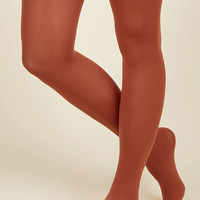 Accent Your Ensemble Tights in Clay