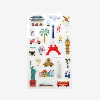 Decorate your item epoxy adhesive sticker - travel