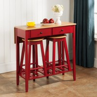 InRoom Designs 3 Piece Pub Table Set - Walmart.com