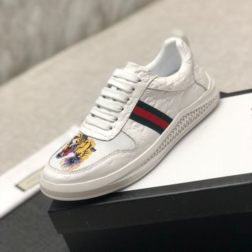 Gucci Man Fashion Casual Shoes Men Fashion Boots fashionable Casual leather Breathable Sneakers Running Shoes