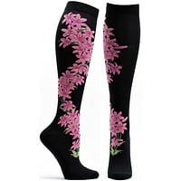 Apothecary Florals Daylily Knee High Sock