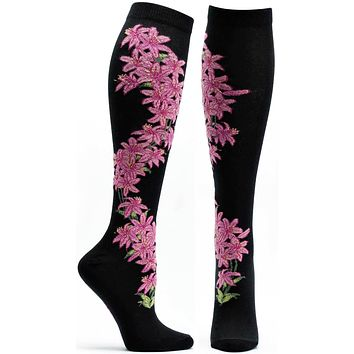 Daylily Apothecary Florals Knee High Sock