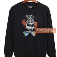 Mad Hatter Jack Skellington Sweatshirt Unisex Adult Size S to 3XL