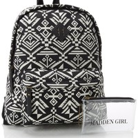 Steve Madden Bskoolll Backpack,Black/White Multi,One Size