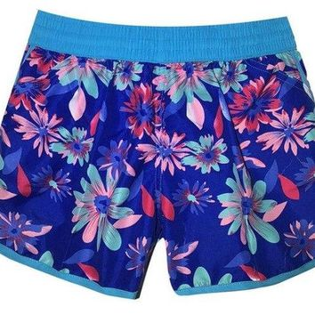 Beach Board Shorts Women short de bain femme swim shorts  floral 3D print sports quick dry