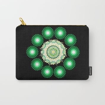 Anahata Flower in the Night Carry-All Pouch by Azima