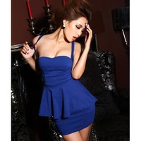 Sexy Flouncing Dress FQ368L: Designer Shoes|Bqueenshoes.com