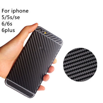 carbon fiber Full Body Sticker For apple iphone 5 5s SE 6 6s plus 4.7&5.5inch Front + back back face protective mobile phone