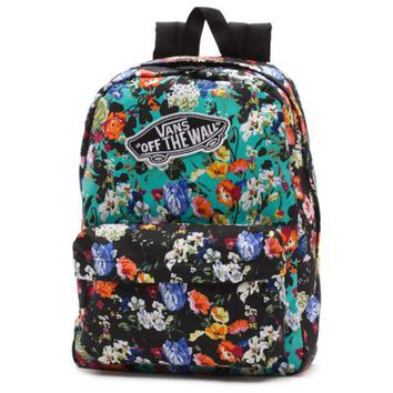 Vans Floral Realm Backpack (Smoked Pearl/True White)
