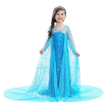 Halloween Costumes for Kids Cartoon Characters Children Parties Outfits Promotion High Quality Girls Princess Anna Elsa Costume