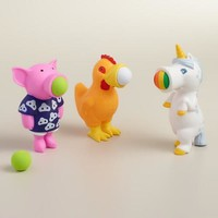Pig, Chicken and Unicorn Poppers, Set of 3