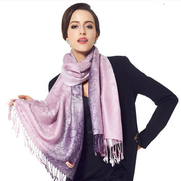 Jacquard Scarf/Wrap (Multiple Colors)