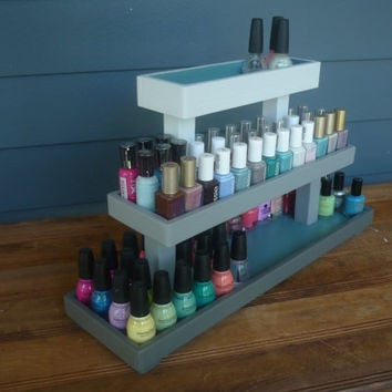 OMBRE Wood Nail Polish 3 Tier Table Top Rack