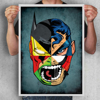 A2 digital print,comics,superman,batman,iron man,hulk,spiderman,wolverine,daredevil,art,