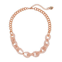 Betsey Johnson Sparkle Link Choker Necklace Crystal/Rose Plate - Zappos.com Free Shipping BOTH Ways
