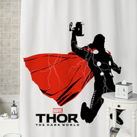 Thor Lightning special shower curtains that will make your bathroom adorable.