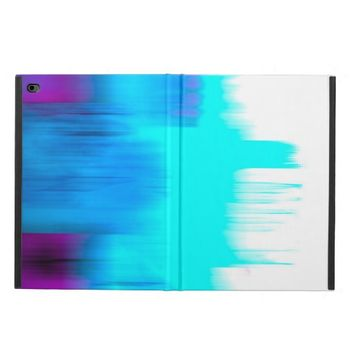 abstract art ipad case in blue and purple