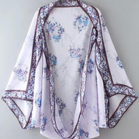 Fashionable Printed Chiffon Kimonos