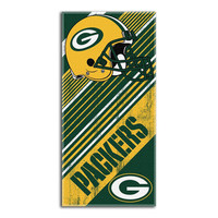 Green Bay Packers NFL Fiber Reactive Beach Towel (Diagonal Series) (28in x 58in)