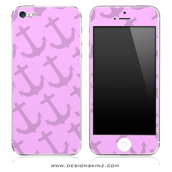 Pink Anchor Bundle iPhone Skin