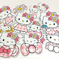 14/27pcs Creative cute kawaii self-made hello Kitty cat puppy pet stickers/decorative  /DIY craft photo albums