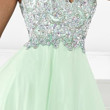 Embellished Long Gown by Tiffany Designs