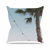 "Kristi Jackson ""Summer Nights"" Coastal Green Throw Pillow"