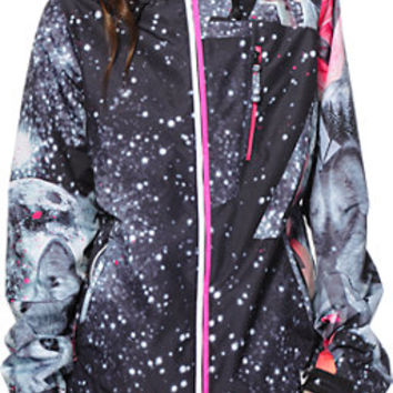 Volcom Girls Stone Grey Wolf 10K Snowboard Jacket 2014
