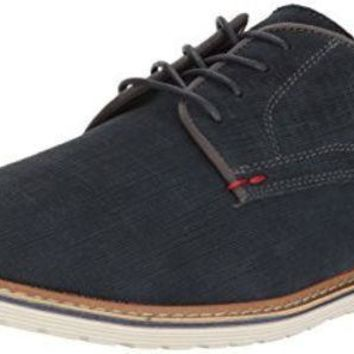 PEAPON Steve Madden Men's Easel Oxford, Navy Suede, 11.5 M US