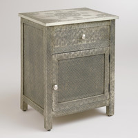 Kiran Embossed Metal Cabinet - World Market
