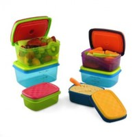 Fit & Fresh Kids' Healthy Lunch Set, 14-Piece Value Reusable Container Set with Removable Ice Packs, Leak-Proof, BPA-Free, Portion Control