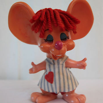 Rare Royalty Industries 1970 Topo Gigio Valentine Mouse Vintage Piggy Bank