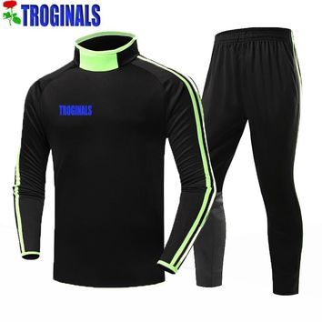 Top Thai Quality Yoga suit 2017-2018 Name Numbers Long-sleeved Soccer Jersey Free Shipping