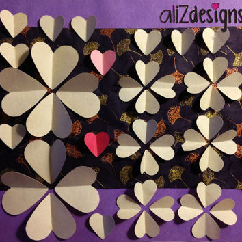 wedding guest book alternative for 70+guests, handmade, print, heart-shaped art, paper art