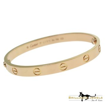 Cartier Love Bracelet in 18k Rose Gold, Size 17 with Box & Papers (C-150)