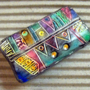 Multicolored  Pendant from Polymer Clay - Handmade