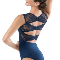 Lace Pinch Back Leotard