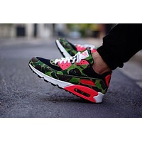 NIKE AIR MAX 90 fashion ladies men running sports shoes sneakers F-PS-XSDZBSH Dark green printing