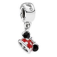 Disney Parks Minnie Mouse Ear Hat Sterling Silver Charm Pandora New