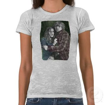 Hermione and Ron 1 Tee Shirt from Zazzle.com